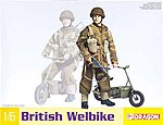 British Welbike -- Plastic Model Military Motorcycle -- 1/6 Scale -- #75034