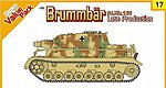 Brummbar SdKfz 166 Late Tank w/Crew East Prussia -- Plastic Model Tank Kit -- 1/35 Scale -- #9117