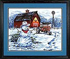 Country Snowman -- Paint By Number Kit -- #73-91434
