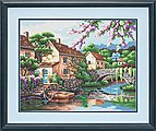 Village Canal -- Paint By Number Kit -- #73-91440