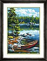 Canoe By The Lake -- Paint By Number Kit -- #73-91446