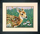 Fawn And Flowers -- Paint By Number Kit -- #73-91447