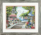Cafe By The Sea -- Paint By Number Kit -- #73-91455