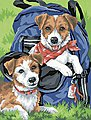 Back Pack Buddies (Dogs) -- Paint By Number Kit -- #91150
