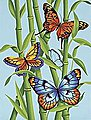 Butterflies/Bamboo -- Paint By Number Kit -- #91258