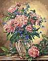 Peony Floral -- Paint By Number Kit -- #91382