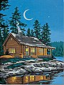 Lakeside Cabin -- Paint By Number Kit -- #91413