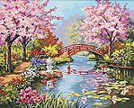 Japanese Garden -- Paint By Number Kit -- #91415