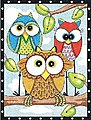 Owl Trio -- Pencil by Number Kit -- #91473