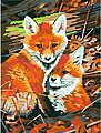 Fox Hole -- Paint By Number Kit -- #91488