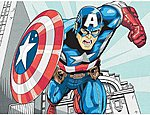 Captain America (Super Hero) -- Pencil By Number Kit -- #91498