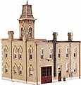 Fire Station No. 3 Kit (6-3/4 x 5-13/16'') -- HO Scale Model Railroad Building -- #12400