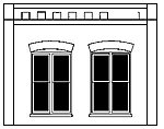 Double Window Wall -- O Scale Model Railroad Building Accessory -- #90106