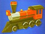 Civil War Steam Engine Wooden Model Kit (7.4''x4.4'') Premium -- Wooden Construction Kit -- #919303
