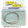 2ft. Braided Line #4 (.045'') -- Plastic Model Vehicle Accessory Kit -- 1/24-1/25 Scale -- #1304