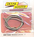 Braided Line #6 .080-1ft -- Plastic Model Vehicle Accessory Kit -- 1/24-1/25 Scale -- #1306