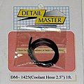 2ft Coolant Hose Black (2'' Dia.) -- Plastic Model Vehicle Accessory Kit -- 1/24-1/25 Scale -- #1425