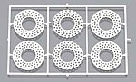 Vented Disc Brakes 11'' Drilled -- Plastic Model Vehicle Accessory Kit -- 1/24 Scale -- #2231
