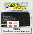 Racing Harness Cam Type (Black) -- Plastic Model Vehicle Accessory Kit -- 1/24 Scale -- #2261blk