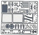 Interior Junk Set #2 -- Plastic Model Vehicle Accessory Kit -- 1/24-1/25 Scale -- #2385