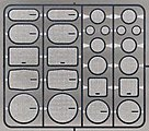 Speaker Grilles #2 (12 Sets) -- Plastic Model Vehicle Accessory Kit -- 1/24-1/25 Scale -- #2500