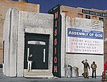 Rescue Mission Kit -- HO Scale Model Railroad Building -- #1034