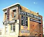 Luci's Tattoo Emporium Kit -- O Scale Model Railroad Building -- #49