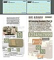 US OIF Battalion Numbers Pt3 -- Plastic Model Military Decal -- 1/35 Scale -- #356061