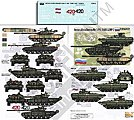 Russian AFVs in Chechen War -- Plastic Model Military Decal -- 1/35 Scale -- #356192