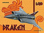 Draken Aircraft (Limited Edition Plastic Kit) -- Plastic Model Airplane -- 1/48 Scale -- #1135
