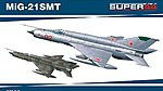 MiG21SMT Fighter Dual Combo -- Plastic Model Airplane Kit -- 1/144 Scale -- #4426
