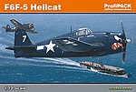 F6F5 Hellcat Aircraft -- Plastic Model Airplane Kit -- 1/72 Scale -- #7077