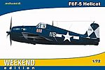 F6F5 Hellcat Fighter (Weekend Edition) -- Plastic Model Airplane Kit -- 1/72 Scale -- #7415