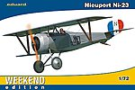 Nieuport Ni23 BiPlane Fighter (Weekend Edition) -- Plastic Model Airplane Kit -- 1/72 Scale -- #7417