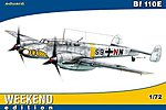 Bf110E Fighter (Weekend Edition) -- Plastic Model Airplane Kit -- 1/72 Scale -- #7419