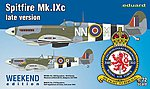Spitfire Mk IXc Late Version Fighter (Weekend Ed.) -- Plastic Model Airplane Kit -- 1/72 -- #7431