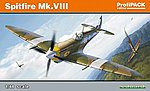 Spitfire Mk VIII Fighter (Profi-Pack) -- Plastic Model Airplane Kit -- 1/48 Scale -- #8284
