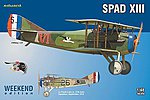 Spad XIII Biplane (Weekend Edition Plastic Kit) -- Plastic Model Airplane -- 1/48 Scale -- #8425