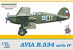Avia B534 Serie IV Czech AF Aircraft -- Plastic Model Airplane Kit -- 1/48 Scale -- #8475