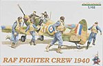 Royal Air Force Fighter Crew 1940 -- Plastic Model Military Figure Kit -- 1/48 Scale -- #8507