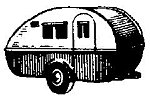 Two-Wheel Camping Trailer -- HO Scale Model Railroad Vehicle -- #2022
