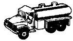 Tank truck GMC - HO-Scale