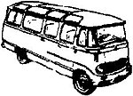 Mercedes Microbus -- HO Scale Model Railroad Vehicle -- #2088