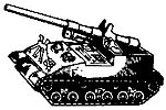 US Post-1945 Armored Vehicle M40 Self-Propelled Howitzer -- HO Scale Model Railroad Vehicle -- #4019