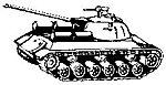 Russian Stalin Tank -- HO Scale Model Railroad Vehicle -- #4029