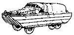 US World War II DUKW Amphibious 6x6 Truck (''Duck'') -- HO Scale Model Railroad Vehicle -- #4036