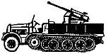 Half-track FRG KM-8ton AA - HO-Scale