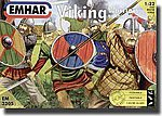 9th-10th Century Viking Warriors (12) -- Plastic Model Military Figure Kit -- 1/32 Scale -- #3205