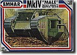 WWI British Male Mk IV Tank -- Plastic Model Military Vehicle Kit -- 1/35 Scale -- #4001