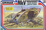 WWI British Hermaphrodite Mk V Tank -- Plastic Model Military Vehicle Kit -- 1/35 Scale -- #4005